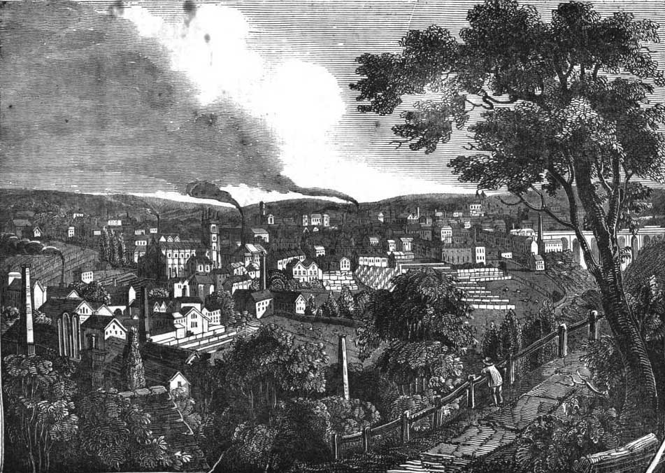 Town of Halifax, Yorkshire, from The Penny Magazine, 15 March 1834