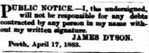 The Inquirer & Commercial News (Perth, WA : 1855 - 1901), 18 April 18834, p. 5
