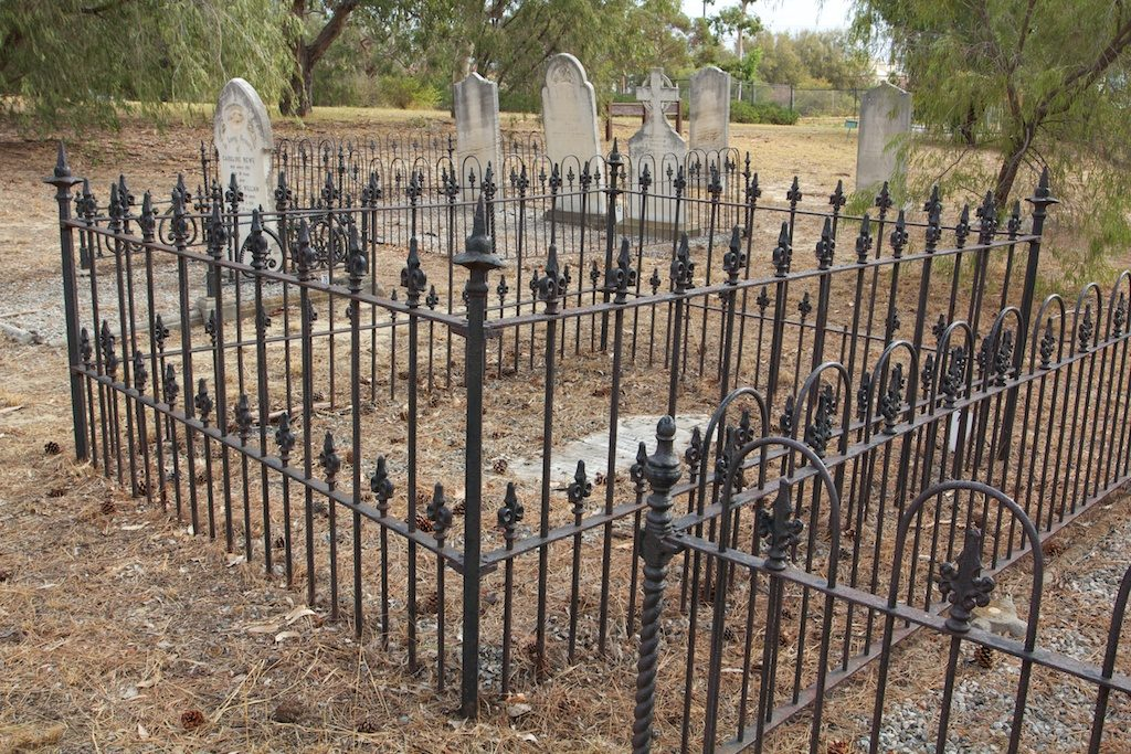 The family plot in the East Perth Cemetery.